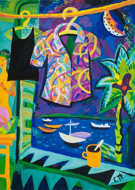 Shirt, 90 x 64, canvas, oil. In stock